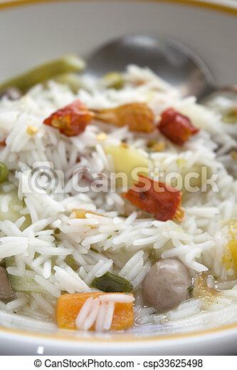 légume, riz, minestrone, basmati - csp33625498