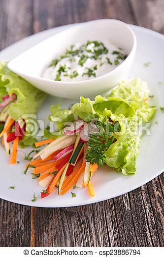 légume, sauce, salade - csp23886794