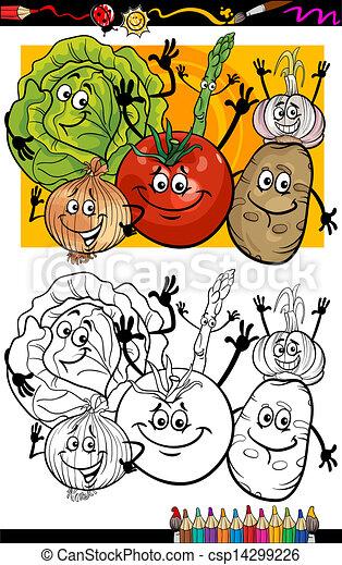 Legumes Coloration Groupe Livre Dessin Anime