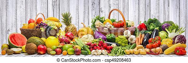 légumes, fond, fruits - csp49208463