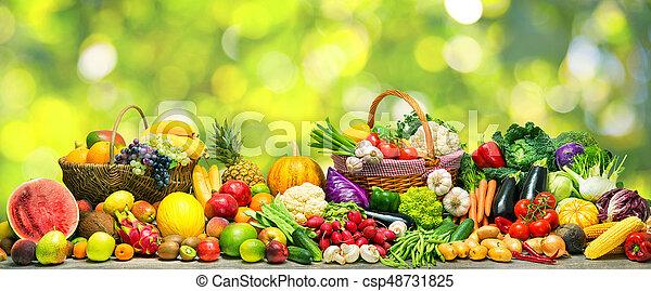 légumes, fond, fruits - csp48731825