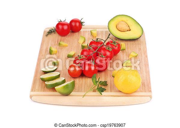 légumes, fruits., assorti - csp19763907