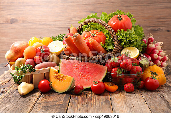 légumes, fruits assortis - csp49083018