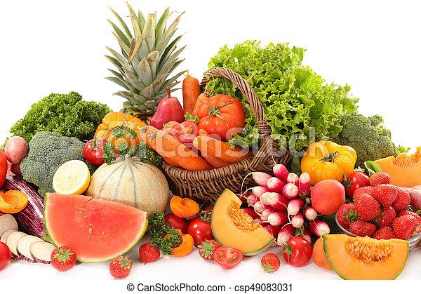 légumes, fruits assortis - csp49083031