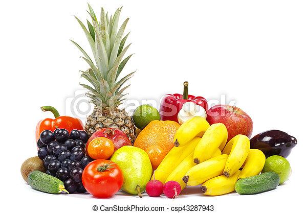 légumes, fruits - csp43287943