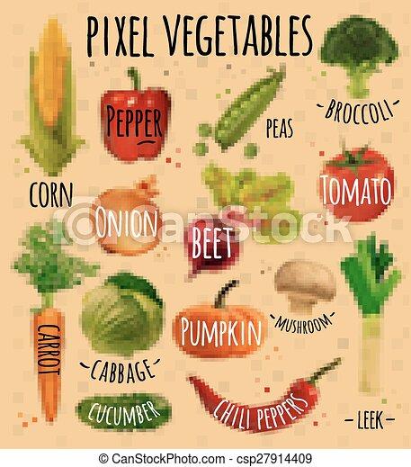Légumes Kraft Pixel