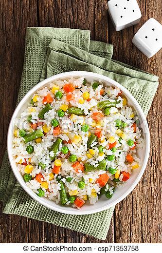 légumes, riz - csp71353758
