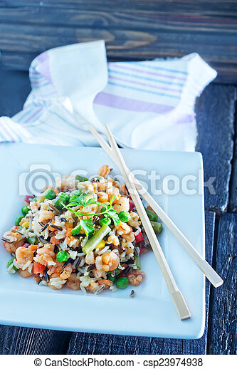 légumes, riz - csp23974938