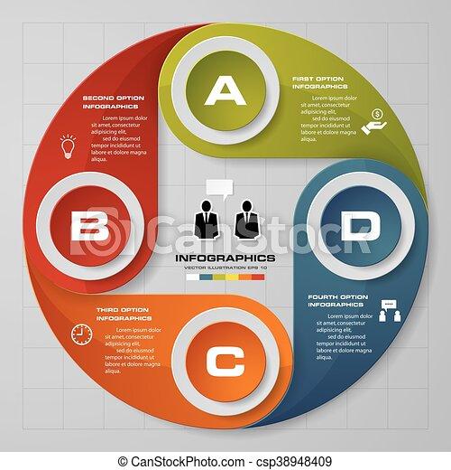 lépések, 4, háttér, infographics - csp38948409