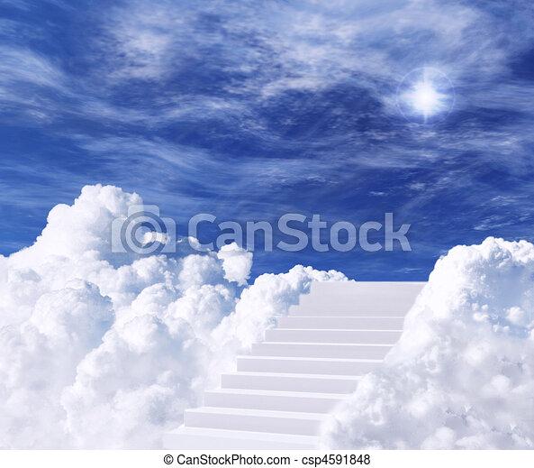lépcsőház, ég - csp4591848