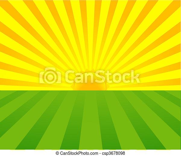 léto, východ slunce - csp3678098