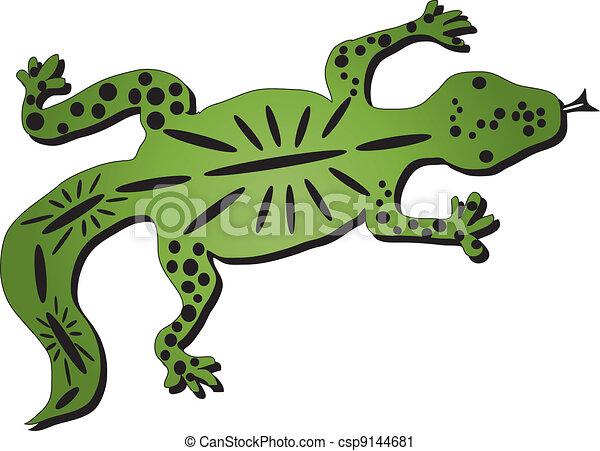 tachet233 simple mod232le l233zard vert dessin clipart