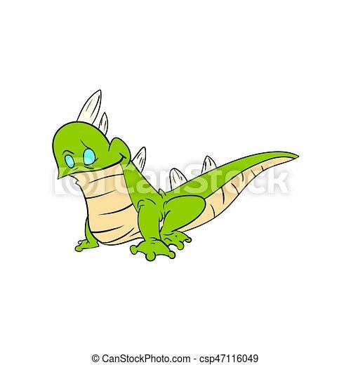 l233zard vert dessin anim233 color233 illustration l233zard