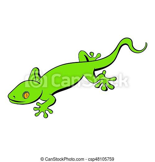 l233zard vert gecko dessin anim233 ic244ne style isol233