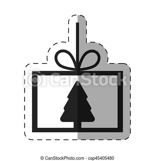 La línea de Navidad de Card Tree Pine - csp45405480