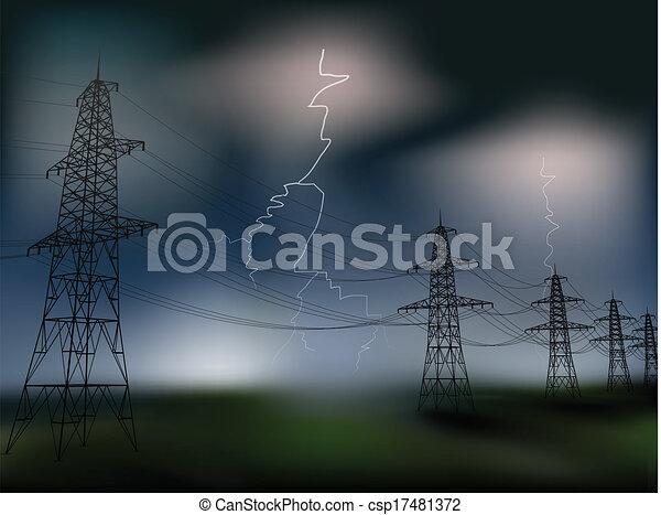 Línea de electricidad - csp17481372