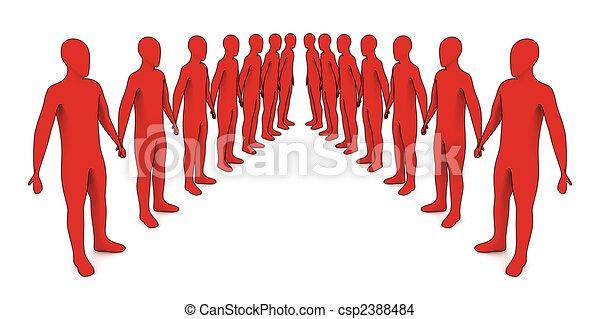 Gente en línea - csp2388484