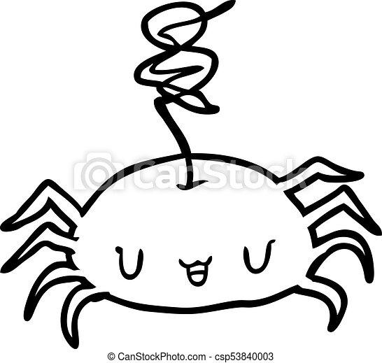 Linea Halloween Arana Dibujo Clipart Vectorial Buscar Imagenes - Dibujos-araas-halloween