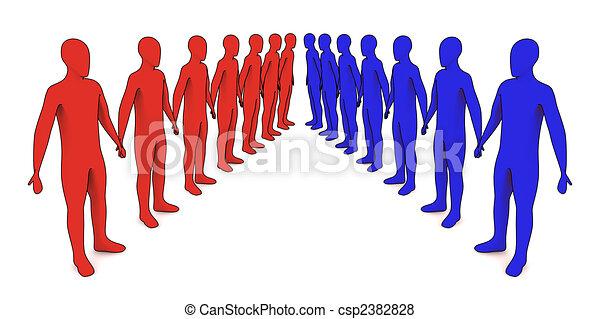 Gente en línea, forasteros - csp2382828