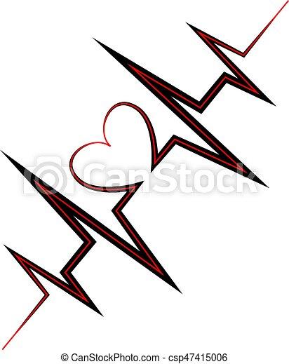 línea símbolo de la vida corazón corazón vida heart