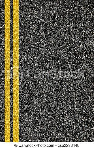 textura de carretera con líneas - csp2238448