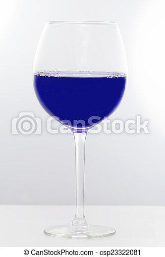 líquido azul - csp23322081