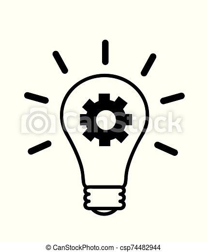 lök, lätt, idé, skapande - csp74482944