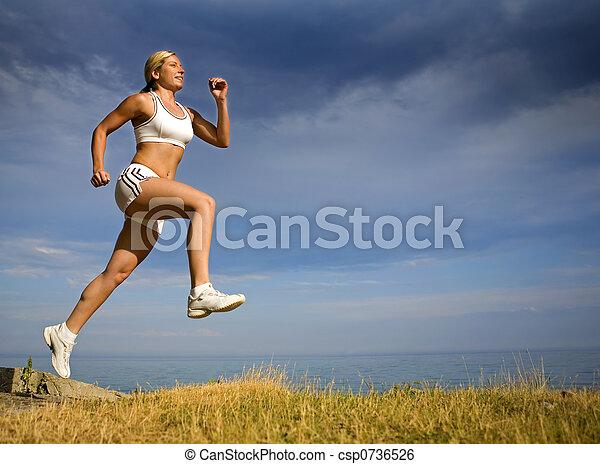 løber, kvindelig - csp0736526