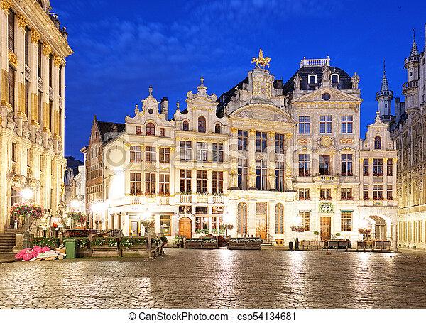 Lugar de la agonía en Bruselas - csp54134681