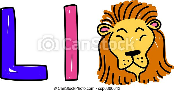 L is for lion - csp0388642
