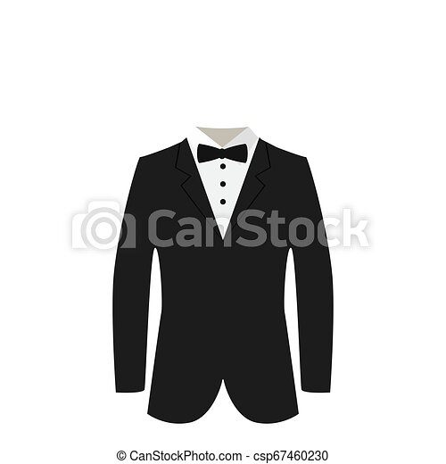 laço, terno preto - csp67460230