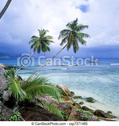 La Digue, Seychelles - csp7371485
