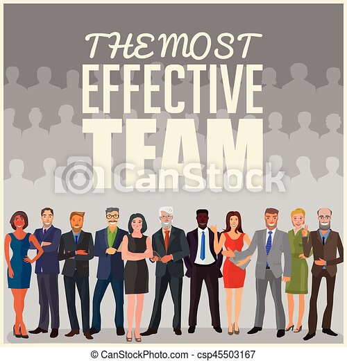 la plupart, efficace, équipe - csp45503167