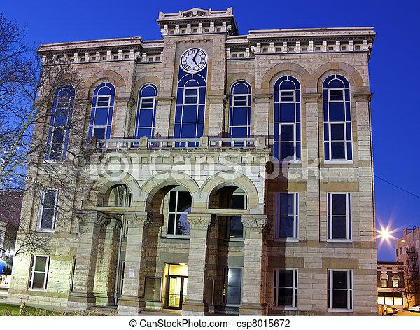 La Salle County Historic Courthouse in Ottawa - csp8015672
