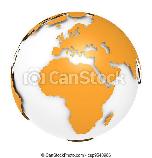 la terre, 2., rotation, vue - csp9540986