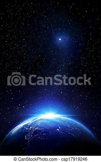 la terre, au-delà, confines - csp17919246