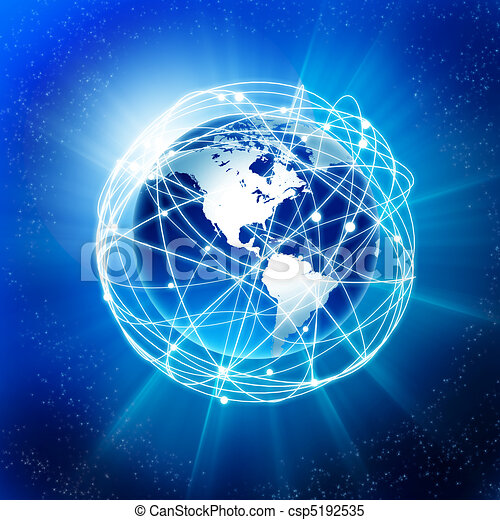 la terre, communication - csp5192535