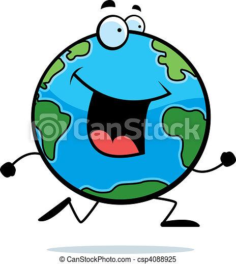la terre courant plan te sourire courant la terre clipart rh canstockphoto fr