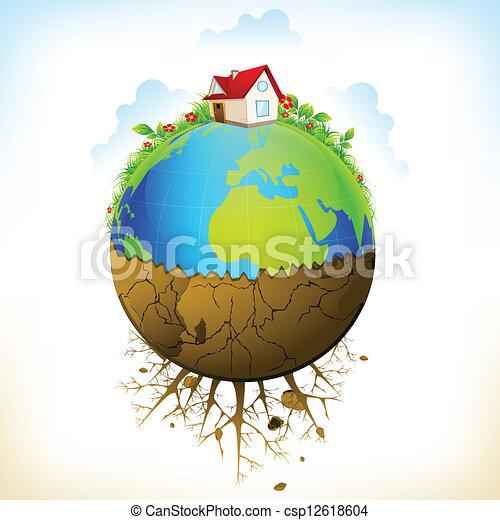la terre, distruction - csp12618604