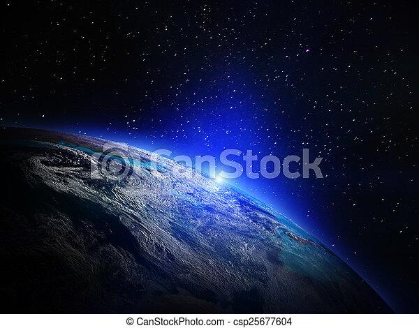 la terre, espace - csp25677604