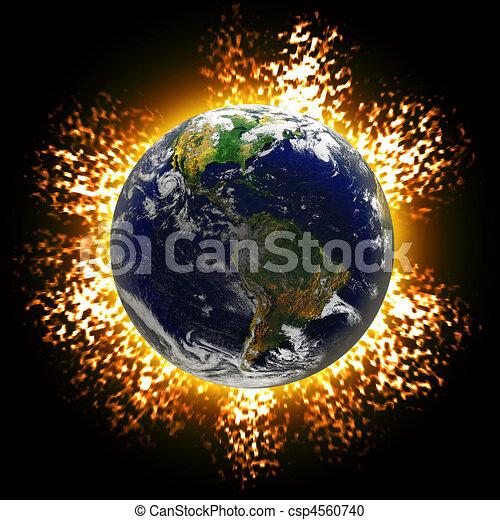 la terre, exploser - csp4560740