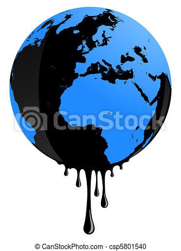 La Terre Huile Pollution