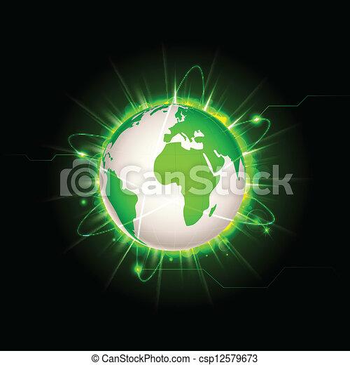 la terre, incandescent - csp12579673