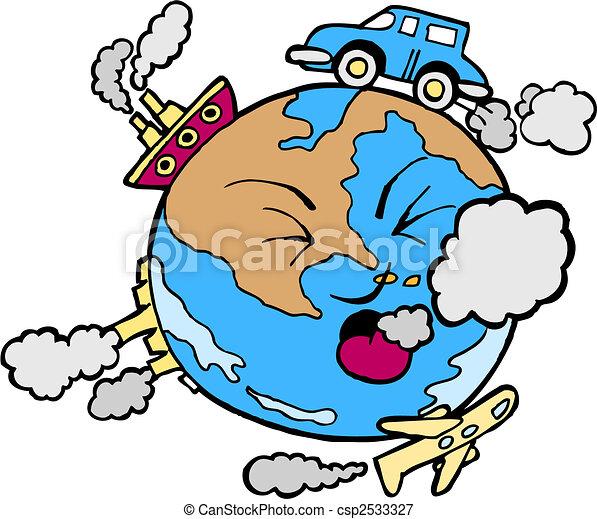 La Terre Pollué Arrière Plan Blanc La Terre Isolé Pollué