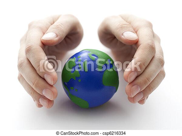 la terre, protéger - csp6216334