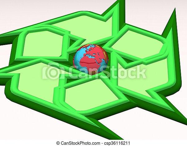 la terre, recyclage - csp36116211