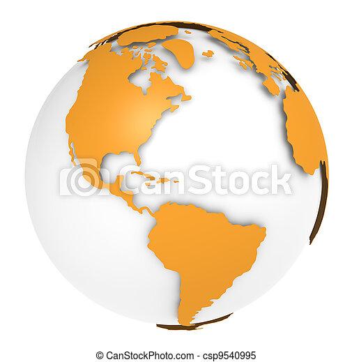 la terre, rotation, 3., vue - csp9540995