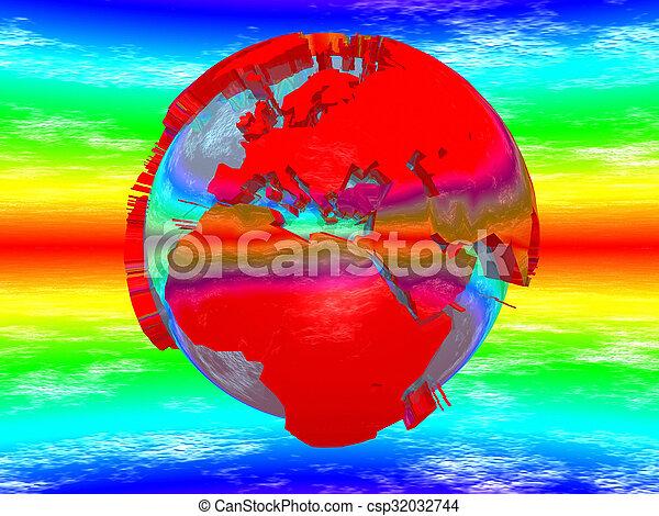 la terre, rouges - csp32032744