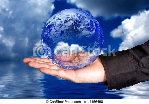 la terre, sauver - csp4156490