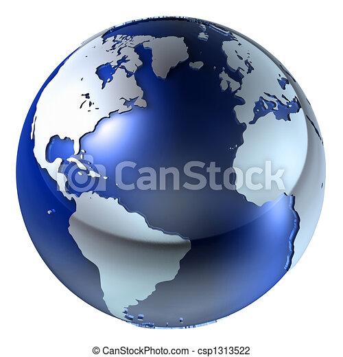 la terre, structure, 3d - csp1313522